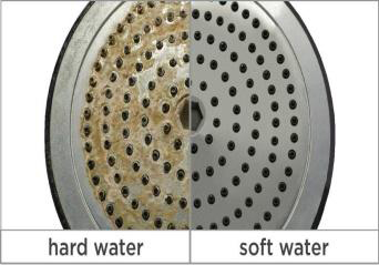 hard water effect on shower head
